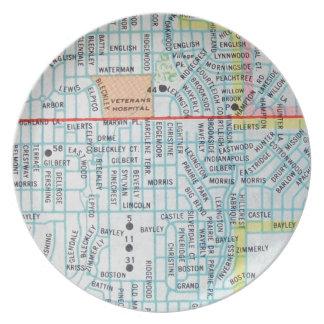 Wichita, KS Vintage Map Plate
