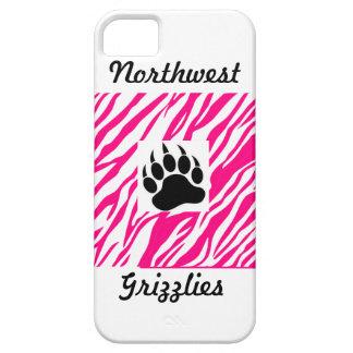 Wichita Northwest Grizzlies iPhone Case-Pink Zebra iPhone 5 Case
