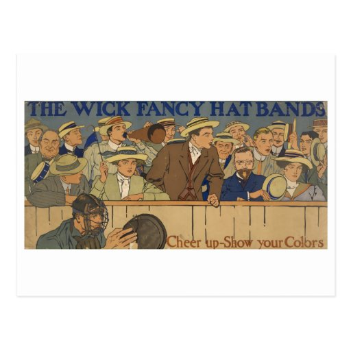 Wick Fancy Hat Bands Advertisement Poster 1910 Post Card