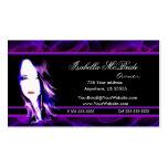 Wicked Black & Purple Hair Stylist Business Card