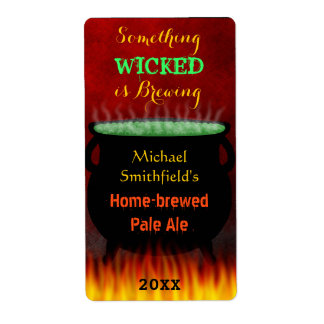 Wicked Brew Halloween Cauldron with Fire Beer