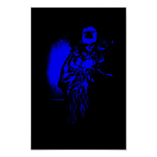 Wicked Clown Blue Poster