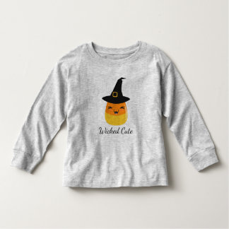 Wicked Cute Candy Corn Witch Toddler Shirt
