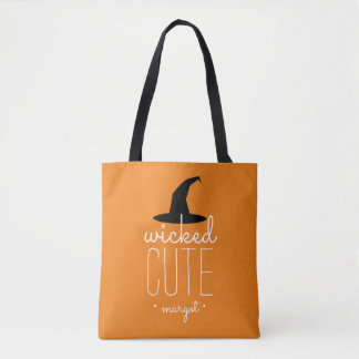 Wicked Cute Personalized Halloween Tote Bag