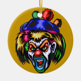 Wicked Evil Clown Round Ceramic Decoration