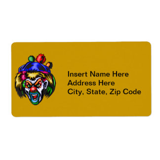 Wicked Evil Clown Shipping Label