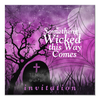 "Wicked Fun Halloween Wedding Invitation 5.25"" Square Invitation Card"