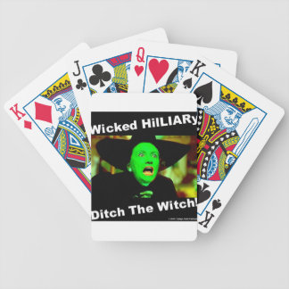 Wicked Hillary Ditch The Witch Bicycle Playing Cards