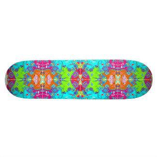 Wicked Kaleidoscope Lime Green & Blue 19.7 Cm Skateboard Deck