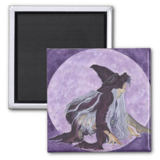 wicked moon witch square magnet