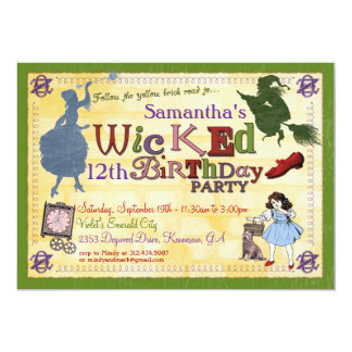 Wicked Party Invitation - Wizard of Oz