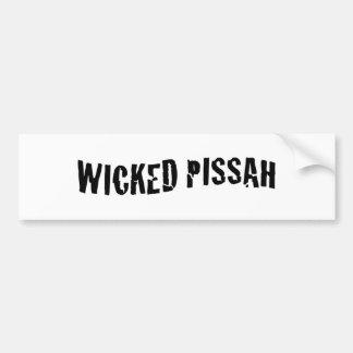 Wicked Pissah Bumper Sticker