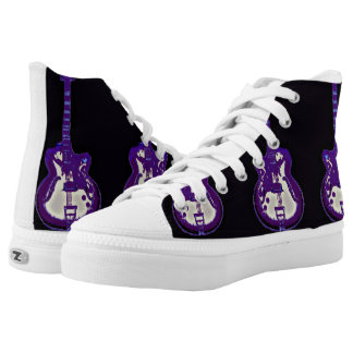 Wicked Purple Haze Guitar Shoes Printed Shoes