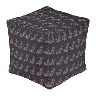 Wicked Purple Pattern Cube Bean Bags Pouf
