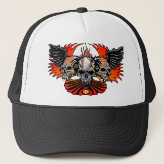 Wicked Skulls Wings Flames Phoenix... - Customized Trucker Hat