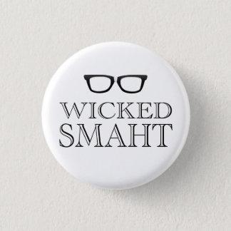 Wicked Smaht(Smart) Boston Speak Humor 3 Cm Round Badge