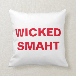 Wicked Smaht Throw Pillow