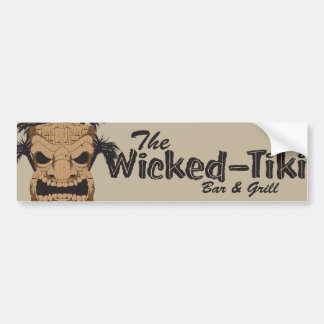 Wicked Tiki Bar Car Bumper Sticker