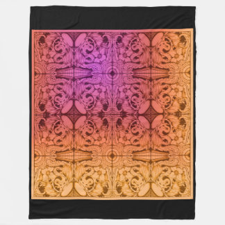 wicked tile design fleece blanket