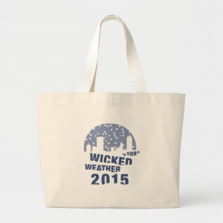 Wicked Weather 2015, Boston Large Tote Bag