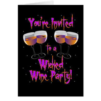 Wicked Wine Party Invitation