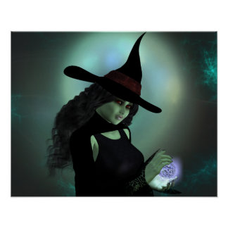 Wicked Witch Casting a Spell Poster
