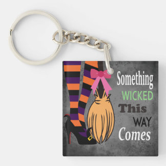 Wicked Witch Double-Sided Square Acrylic Key Ring