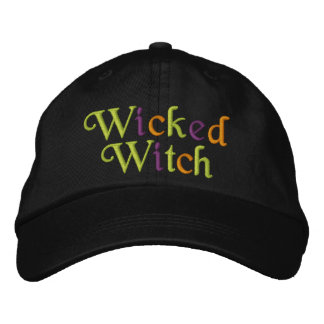 Wicked Witch Embroidered Baseball Cap