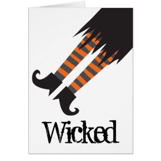 Wicked Witch Funny Halloween Greeting Card