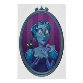 wicked witch ghost in mirror print