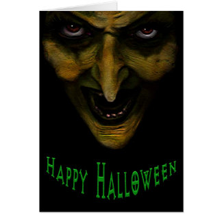 Wicked Witch Halloween Greeting Card
