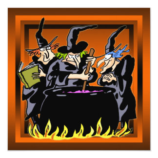 Wicked Witch Halloween Party Invitation