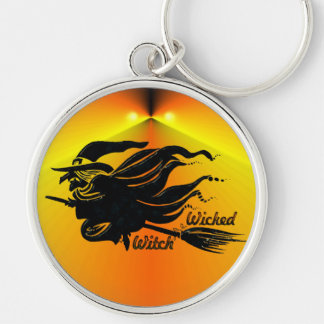 Wicked Witch Silver-Colored Round Key Ring