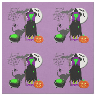 Wicked Witch Spooky Halloween Novelty Fabric