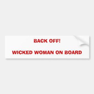 Wicked Woman on Board 1 Bumper Sticker
