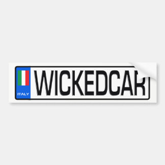 WICKEDCAR Euro Plate Sticker