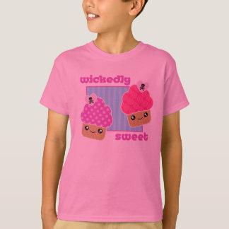 Wickedly Sweet Kawaii Cupcakes Pink T-Shirt