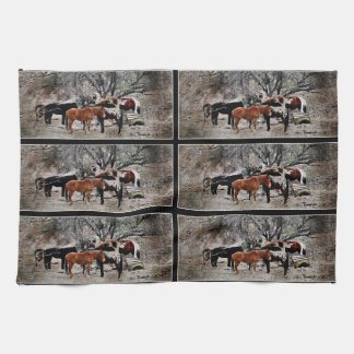 Wickenburg Horses Kitchen Towel