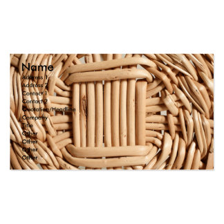 Wicker basket closeup pack of standard business cards