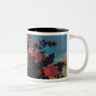 Wicker Basket of Flowers Mug