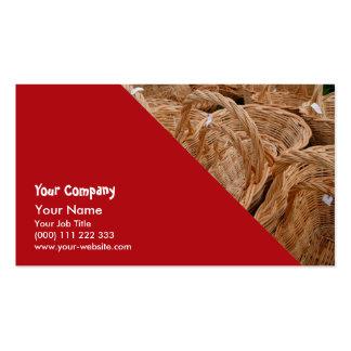 Wicker baskets business card templates