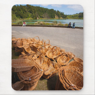 Wicker baskets for sale mouse pad