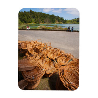 Wicker baskets for sale rectangular photo magnet