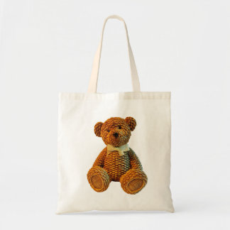 Wicker Brown Teddy Bear