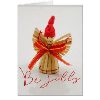 Wicker Christmas Ornament Card