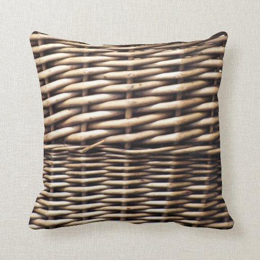 Wicker Throw Pillow