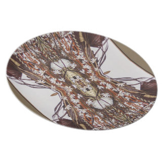 wicker explosion party plates