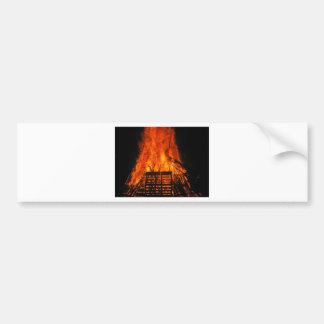 Wicker fire bumper sticker