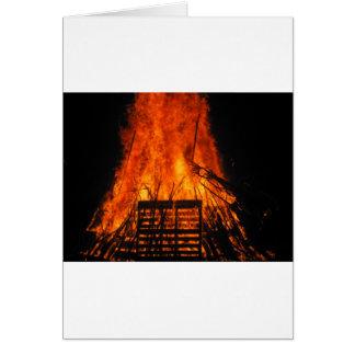 Wicker fire card