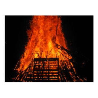 Wicker fire post card